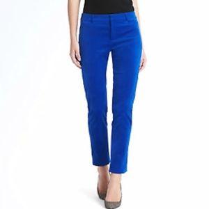 Banana Republic Cobalt Blue Velvet Sloan Pants